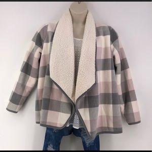 Sonoma Open Front Faux Fur Jacket L NWT